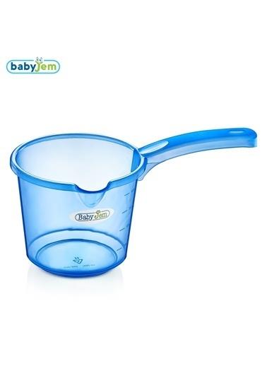 Baby Jem Babyjem Bebek Banyo Maşrapası Şeffaf  Mavi
